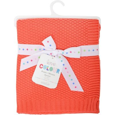 Love Colour Cotton Blanket (Coral)