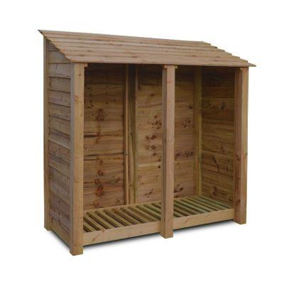 Hambleton wooden log store - 6ft