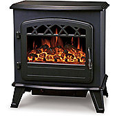 Kingavon Electric Stove Fan Heater Log Burning Flame Effect