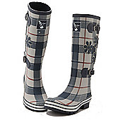 Evercreatures Ladies St George Funky Wellies Tartan Pattern 8