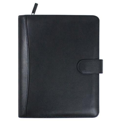 Collins Stirling A5 Premium Leather Desk Organiser, Black
