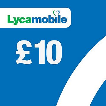 Lycamobile £10 mobile Top Up