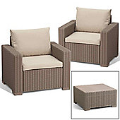 Allibert California Lounge Set (Seats 2) - Cappuccino
