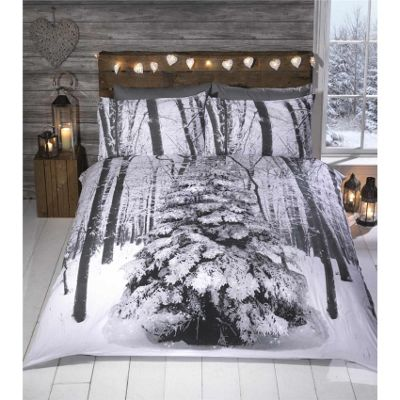Rapport Winter Sparkle Christmas Duvet Cover Set - Double