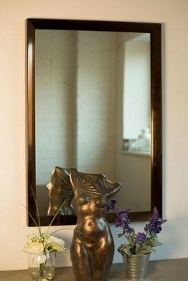 New Bronze Bevelled Frame Wall Mirror 2Ft7 X 1Ft9 (78cm X 55cm