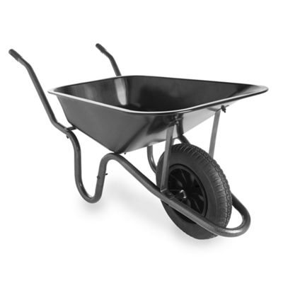 VonHaus 85L Heavy Duty Wheelbarrow with Pneumatic Tyre