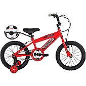 "Bumper Goal 18"" Wheel Kids Bike Red"