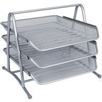 Q-Connect 3-Tier Letter Tray Silver KF00822