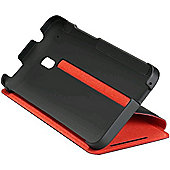 HTC HC V800 Carrying Case (Flip) for Smartphone - Red, Black