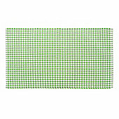 Homescapes Cotton Gingham Check Rug Hand Woven Green White, 70 x 120 cm