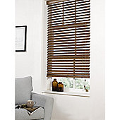 Hamilton McBride Faux Wood Venetian Blind 60 x 160cm Walnut