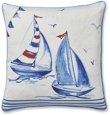 Catherine Lansfield Sailing Boats Cushion Cover