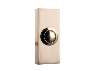 Byron 2204BN Wired Bell Push Bushed Nickel