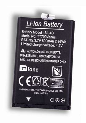 TTfone Spare Battery for TTfone Big Button Mobile Phones BL4C