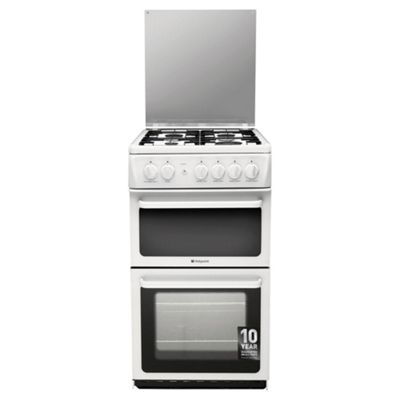 Hotpoint Newstyle Gas Cooker with Gas Grill and Gas Hob, HAGL51P - White