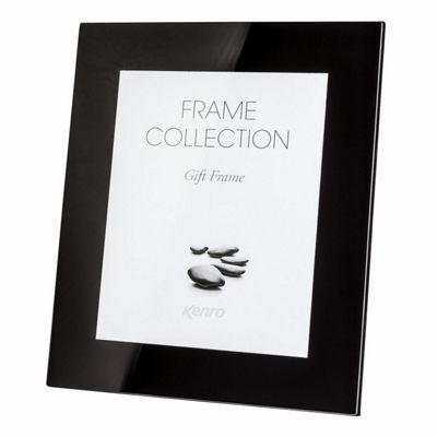 Kenro Black Glass Photo Frame to hold a 8x10