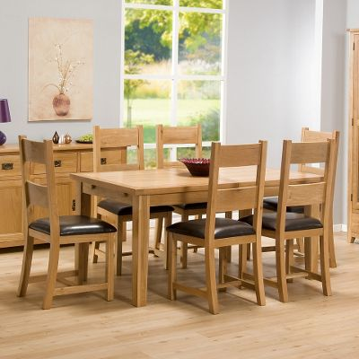 Stirling Oak 16m Extending Dining Table