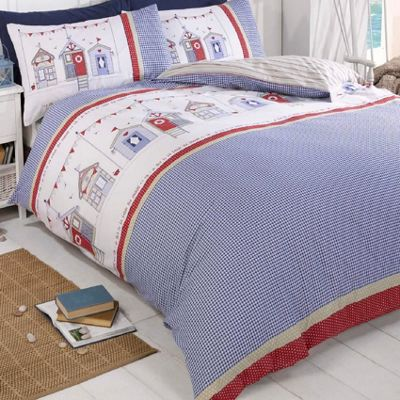 Seaside King Size Duvet - Beach Huts