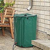Outsunny 225L PVC Water Butt Rainsaver Free Standing Raintrap Diverter - Green