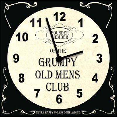 Original Signs - Founder Member Grumpy Old Mens Club Clock