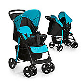 Hauck Shopper SND Travel System with Mosquito Net - Caviar/Aqua