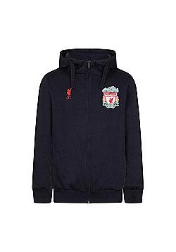 Liverpool FC Mens Zip Hoody - Blue