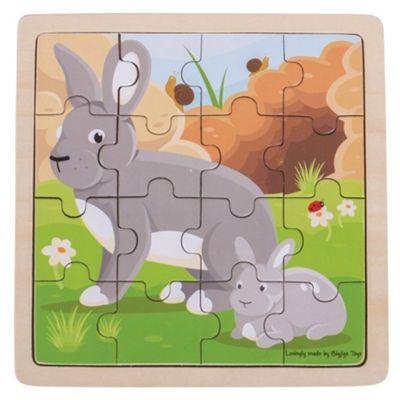 Bigjigs Toys Chunky Wooden Rabbit & Kitten Puzzle
