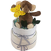 2 Tier Elli Elephant Unisex Nappy Cake