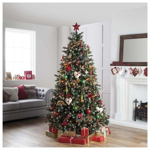 Festive 7ft Snow Tipped Fraser Fir Christmas Tree