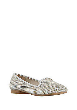 F&F Metallic Raffia Slipper Pumps - Gold
