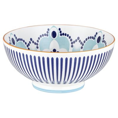 Kenza Large Serving Bowl blue and orange