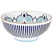 Kenza Large Serving Bowl blue and orange