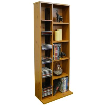 Claremont - Cd Dvd Blu-ray Video Multimedia Storage Unit - Pine
