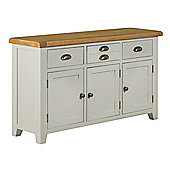 Arklow Painted Grey Large Oak Sideboard / Oak 3 Door 3 Drawer Sideboard