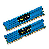 Corsair DDR3 1600MHz 16 GB. kit of 2x240pin Dimms Unbuffered 10-10-10-27with Vengeance Blue Low Profile Heat Spreader - Core i7, Core i5 and Core 2