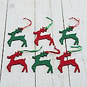 Set of 18 Felt Reindeer Decorations