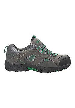 Mountain Warehouse Walking Shoes Stampede Kids Waterproof Suede and Mesh Upper - Green