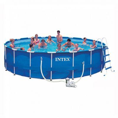 Intex Metal Frame Pool Package 18ft x 48