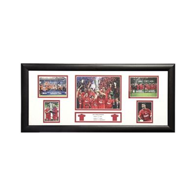 Framed Robbie Fowler signed Liverpool storyboard