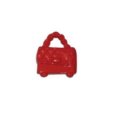 Hemline Red Handbag Buttons 21mm 4pk