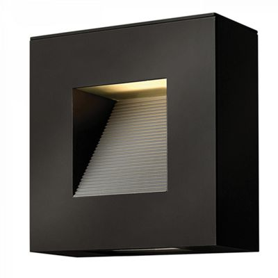Satin Black LED Wall Light - 2 x 7W LED