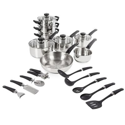 Morphy Richards 8pce Pan Set - Stainless Steel