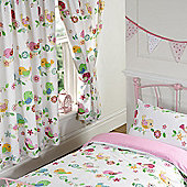 Tweet Tweet Birds Lined Curtains 66 inch x 54 inch (168cm x 137cm)