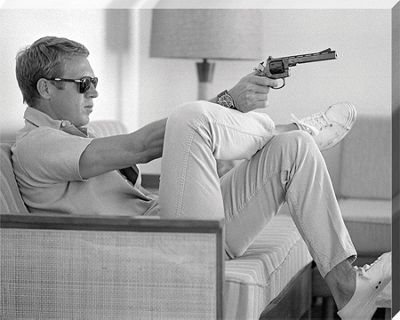 Time Life Steve McQueen - Takes Aim Canvas Print 40 x 50cm