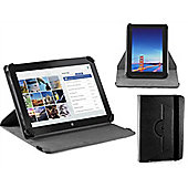 Navitech Black Faux Leather Case Cover With 360 Rotational Stand For The Windows Connect 9 inch Tablet