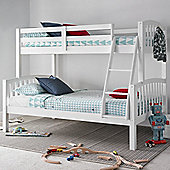 Happy Beds American White Triple Bunk Bed & Orthopaedic Mattresses