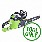 Greenworks GD40CS40 40V Brushless Chainsaw (tool only)