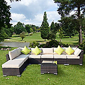 Outsunny 8PC Rattan Home Furniture Garden Patio Brown
