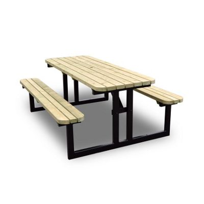 Tinwell Steel Rounded Picnic Bench - 6ft