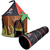 Pirate Pop Up Play Tent and Tunnel Set
